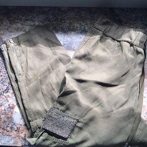 Alice + Olivia Olive green Cargo Pants